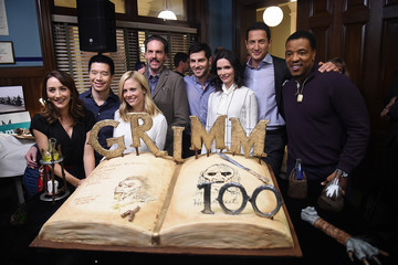 Claire Coffee 'Grimm' 100th Episode Ceremony and Cake Cutting