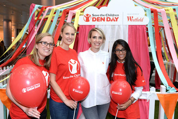 Claire Richards Claire Richards Takes Part in Den Day Fundraising Activities at Westfield London