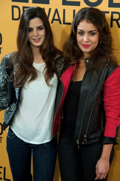 'The Wolf of Wall Street' Premieres in Madrid [the wolf of wall street,cinema,beauty,fashion,jeans,outerwear,long hair,textile,fashion design,jacket,event,brown hair,actresses,clara lago,r,hiba abouk,palafox,madrid,l,madrid premiere]