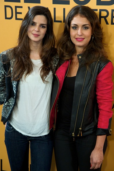 'The Wolf of Wall Street' Premieres in Madrid [the wolf of wall street,cinema,clothing,beauty,fashion,yellow,jeans,jacket,textile,outerwear,leather,long hair,actresses,clara lago,r,hiba abouk,palafox,madrid,l,madrid premiere]