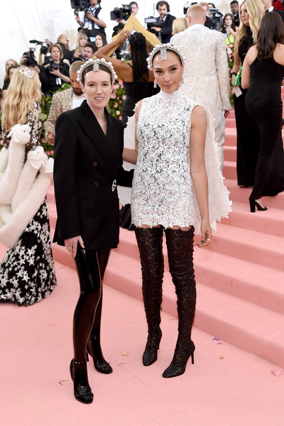 The 2019 Met Gala Celebrating Camp: Notes On Fashion - Arrivals [fashion,haute couture,dress,event,carpet,red carpet,flooring,fashion model,premiere,fashion design,fashion - arrivals,gal gadot,clare waight keller,notes,fashion,new york city,metropolitan museum of art,met gala celebrating camp]