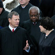 Clarence Thomas Barack Obama Sworn In As U.S. President For A Second Term