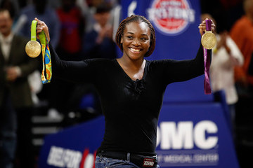 Claressa Shields Orlando Magic v Detroit Pistons
