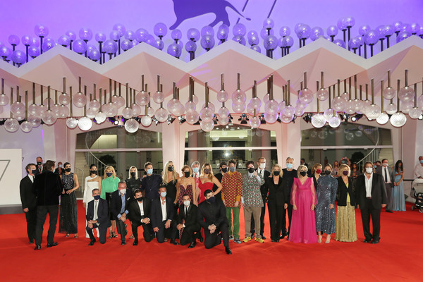 """""""The World To Come"""" Red Carpet - The 77th Venice Film Festival [the world to come,movie,italy best movie,red carpet,carpet,event,pink,purple,flooring,ceremony,decoration,function hall,magenta,red carpet,carpet,award guests,red carpet,red carpet,77th venice film festival,ceremony,red carpet,public relations,purple,carpet,crowd,ceremony,red,public]"""