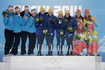 Claudia Nystad Medal Ceremony - Winter Olympics Day 9