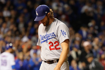 Clayton Kershaw NLCS - Los Angeles Dodgers v Chicago Cubs - Game Six