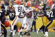 Montario Hardesty #20 of the Cleveland Browns carries the ball against the Pittsburgh Steelers during the game on December 30, 2012 at Heinz Field in Pittsburgh, Pennsylvania.