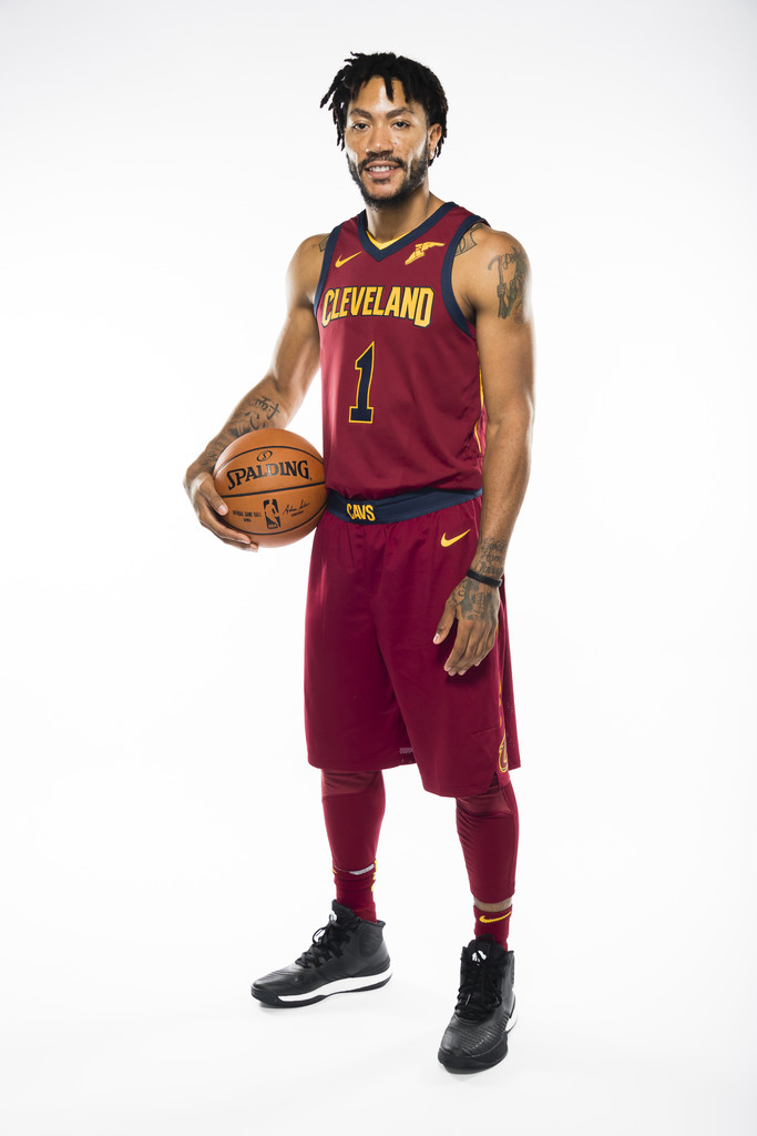 Derrick rose photos photos cleveland cavaliers media day - Derrick rose cavs wallpaper ...