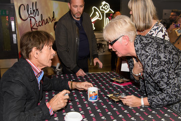 Cliff Richard Sir Cliff Richard Signs Copies Of His New Album 'Just Fabulous Rock 'n' Roll'