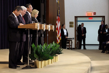 Hillary Clinton Robert Gates Clinton And Gates Meet With Japanese FM At State Department