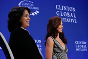 (L-R) Ashley Judd, Ambassador, Population Services International attends the Breakout Session: The Economic Implications of Gender-Based Violence during the first day of the 2015 Clinton Global Initiative's Annual Meeting at the Sheraton New York Hotel & Towers on September 26, 2015 in New York City.