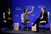(L-R) Anu Madgavkar, Ashley Judd and Gary Cohen attend the Breakout Session: The Economic Implications of Gender-Based Violence during the first day of the 2015 Clinton Global Initiative's Annual Meeting at the Sheraton New York Hotel & Towers on September 26, 2015 in New York City.