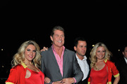 (L-R) David Hasselhoff and DJ Scott Mills attend the Clintons celebration of their forthcoming UK launch of the Celebrity Fastcard with David Hasselhoff, Alesha Dixon, Scott Mills and Teezy at No 5 Cavendish Square on October 18, 2011 in London, England. The Celebrity Fastcard will be launched on 24th October, 2011.