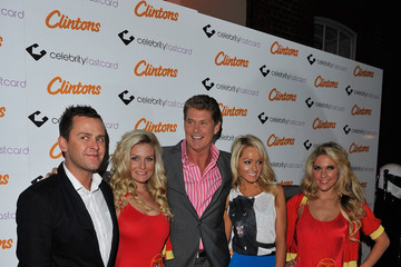 Scott Mills David Hasselhoff Clintons Celebrate Forthcoming UK Launch Of The Celebrity Fastcard