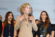 Jane Fonda attends closing ceremony At 10th Film Festival Lumiere on October 21, 2018 in Lyon, France.