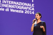 Festival hostess and actress Luisa Ranieri speaks on stage during the Closing Ceremony of the 71st Venice Film Festival on September 6, 2014 in Venice, Italy.