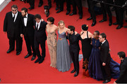 "Guillermo del Toro, Jake Gyllenhaal, Joel Coen, Sophie Marceau, Sienna Miller, Xavier Dolan,  Rossy de Palma, Rokia Traore and Ethan Coen attend the closing ceremony and Premiere of ""La Glace Et Le Ciel"" (""Ice And The Sky"") during the 68th annual Cannes Film Festival on May 24, 2015 in Cannes, France."