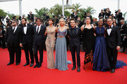 "(L-R) Official Jury Members Guillermo del Toro, Jake Gyllenhaal, Joel Coen, Sophie Marceau, Sienna Miller, Xavier Dolan, Rossy de Palma, rokia Traore and Ethan Coen attend the closing ceremony and Premiere of ""La Glace Et Le Ciel"" (""Ice And The Sky"") during the 68th annual Cannes Film Festival on May 24, 2015 in Cannes, France."