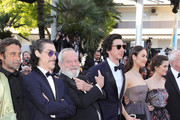 "(L-R) Jordi Molla, Oscar Jaenada, director Terry Gilliam, Adam Driver, Olga Kurylenko and Joana Ribeiro attend the Closing Ceremony & screening of ""The Man Who Killed Don Quixote"" during the 71st annual Cannes Film Festival at Palais des Festivals on May 19, 2018 in Cannes, France."