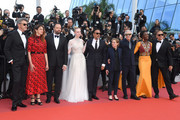 """Pawel Pawlikowski, Alice Rohrwacher,  Yorgos Lanthimos, Elle Fanning, Alejandro Gonzalez Inarritu, Kelly Reichardt, Maimouna N'Diaye, Enki Bilal and Robin Campillo attend the closing ceremony screening of """"The Specials"""" during the 72nd annual Cannes Film Festival on May 25, 2019 in Cannes, France."""