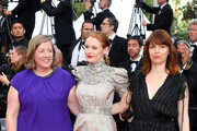 """(L-R) Gerardine O'Flynn, Emily Beecham, and Géraldine Bajard attend the closing ceremony screening of """"The Specials"""" during the 72nd annual Cannes Film Festival on May 25, 2019 in Cannes, France."""