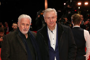 (L-R) Joern Kubicki and Klaus Wowereit arrive for the closing ceremony of the 69th Berlinale International Film Festival Berlin at Berlinale Palace on February 16, 2019 in Berlin, Germany.