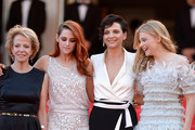 (2ndL-R) Actresses Kristen Stewart, Juliette Binoche and Chloe Grace Moretz attend the 'Clouds Of Sils Maria' premiere during the 67th Annual Cannes Film Festival on May 23, 2014 in Cannes, France.