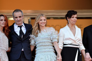 "(L-R) Actresses Kristen Stewart, director Olivier Assayas, Chloe Grace Moretz and Juliette Binoche attend the ""Clouds Of Sils Maria"" premiere during the 67th Annual Cannes Film Festival on May 23, 2014 in Cannes, France."