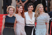 """(2L-R) Kristen Stewart, Juliette Binoche and Chloe Grace Moretz attend the """"Clouds Of Sils Maria"""" premiere during the 67th Annual Cannes Film Festival on May 23, 2014 in Cannes, France."""