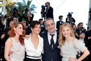 (L-R) Actresses Kristen Stewart, Juliette Binoche, director Olivier Assayas and Chloe Grace Moretz attend the 'Clouds Of Sils Maria' premiere during the 67th Annual Cannes Film Festival on May 23, 2014 in Cannes, France.