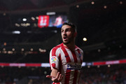 Koke of Atletico Madrid reacts during the Liga match between Club Atletico de Madrid and FC Barcelona at Wanda Metropolitano on December 01, 2019 in Madrid, Spain.