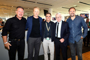 "(L-R) Knut Reinhardt, Carsten Ramelow, Philipp Lahm, amabassador of ""United for Football"" application for Euro 2024, Reinhard Rauball, DFL president and Jens Nowotny pose during the Club Of Former National Players Meeting at BayArena on June 8, 2018 in Leverkusen, Germany."