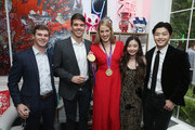 "(L-R) Mac Bohonnon, Hayes Johnson, Missy Franklin, Maia Shibutani and Alex Shibutani attend The 6th Annual ""Gold Meets Golden"" Brunch, hosted by Nicole Kidman and Nadia Comaneci and presented by Coca-Cola at The House on Sunset on January 5, 2019 in West Hollywood, California."