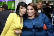 """Victoria Summer (L) and Chrissy Metz attend The 6th Annual """"Gold Meets Golden"""" Brunch, hosted by Nicole Kidman and Nadia Comaneci and presented by Coca-Cola at The House on Sunset on January 5, 2019 in West Hollywood, California."""