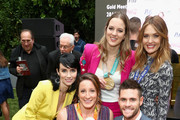 """(L-R) Victoria Summer, Tatyana McFadden, Cassie Sharpe, Amy Purdy and David Boudia attend The 6th Annual """"Gold Meets Golden"""" Brunch, hosted by Nicole Kidman and Nadia Comaneci and presented by Coca-Cola at The House on Sunset on January 5, 2019 in West Hollywood, California."""