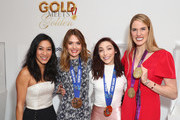 """(L-R) Michelle Kwan, Cassie Sharpe, Meryl Davis and Missy Franklin attend The 6th Annual """"Gold Meets Golden"""" Brunch, hosted by Nicole Kidman and Nadia Comaneci and presented by Coca-Cola at The House on Sunset on January 5, 2019 in West Hollywood, California."""
