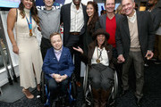 """(Top Row L-R) Jessica MEndoza, Ari Arratia, Carl Lewis, Tai Babilonia, Randy Gardner, guest, (Bottom Row L-R) Andrew Schneider, Candace Cable (Bottom Row L-R)  attend The 6th Annual """"Gold Meets Golden"""" Brunch, hosted by Nicole Kidman and Nadia Comaneci and presented by Coca-Cola at The House on Sunset on January 5, 2019 in West Hollywood, California."""