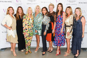 Nina Kotick, Price Arana, Lili Bosse, Candace Bushnell, Angella Nazarian, Shelley Reid, Thea Andrew, Karen Murphy O'Brien and Nadine Watt attend cocktails and conversation with Candace Bushnell: Is There Still Sex In The City? on October 02, 2019 in Los Angeles, California.