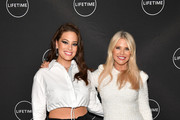 "Ashley Graham (L) and Christie Brinkley attend Cocktails and a Conversation with the Stars of Lifetime's ""American Beauty Star"" featuring host and executive producer Ashley Graham, mentor Sir John and judges Christie Brinkley and Leah Wyar on January 17, 2019 in New York City."
