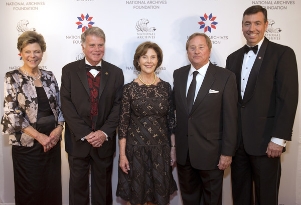 National Archives Foundation Honors Laura Bush With Records Of Achievement Award At Annual Gala