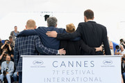 "(L-R) Actor Borys Szyc, director Pawel Pawlikowski, actress Joanna Kulig and actor Tomasz Kot attend the photocall for ""Grans"" during the 71st annual Cannes Film Festival at Palais des Festivals on May 11, 2018 in Cannes, France."
