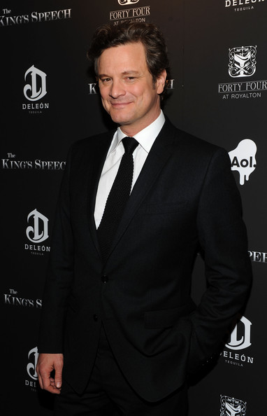 "Colin Firth Actor Colin Firth attends the premiere of ""The King's Speech"" presented by The Weinstein Company, DeLeon, and AOL at Ziegfeld Theatre on November 8, 2010 in New York City."