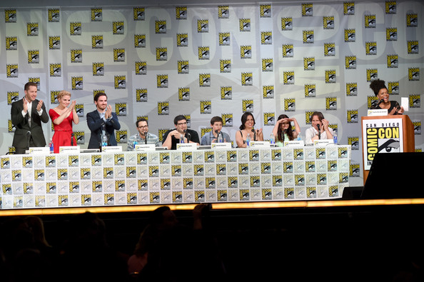 """ABC's """"Once Upon A Time"""" Panel - Comic-Con International 2014 [once upon a time,event,news conference,adam horowitz,edward kitsis,yvette nicole brown,writer,actors,actors,l-r,abc,comic-con international]"""
