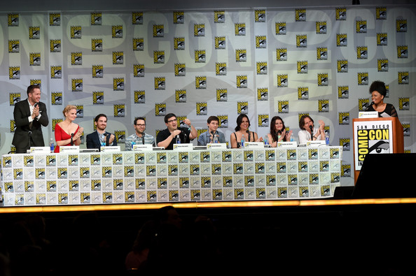 """ABC's """"Once Upon A Time"""" Panel - Comic-Con International 2014 [once upon a time,event,news conference,games,adam horowitz,edward kitsis,yvette nicole brown,writer,actors,actors,l-r,abc,comic-con international]"""
