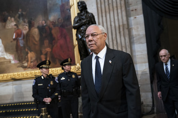 Colin Powell President George H.W. Bush Lies In State At US Capitol