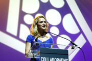 Actress Andrea Powell speaks on stage at Collaborating For A Cure 16th annual benefit dinner and auction at Park Avenue Armory on November 21, 2013 in New York City.