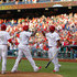 Chase Utley Ryan Howard Photos - Ryan Howard #6 of the Philadelphia Phillies is congratulated by teammates Chase Utley #26 and Marlon Byrd #3 after his two-run home run against the Colorado Rockies during the sixth inning in a game at Citizens Bank Park on May 26, 2014 in Philadelphia, Pennsylvania. The Phillies defeated the Rockies 9-0. - Colorado Rockies v Philadelphia Phillies