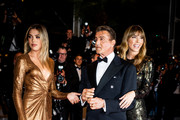 """Image has been digitally altered)  Sylvester Stallone, Jennifer Flavin and Sistine Rose Stallone attend the screening of """"Rambo - First Blood"""" during the 72nd annual Cannes Film Festival on May 24, 2019 in Cannes, France."""