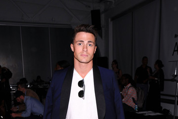 Colton Haynes Ovadia & Sons Front Row at Mercedes-Benz Fashion Week Spring 2015