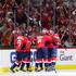 Nicklas Backstrom Photos - Nicklas Backstrom #19 of the Washington Capitals celebrates after scoring a first period goal against the Columbus Blue Jackets during Game Five of the Eastern Conference First Round during the 2018 NHL Stanley Cup Playoffs at Capital One Arena on April 21, 2018 in Washington, DC. - Columbus Blue Jackets vs. Washington Capitals - Game Five